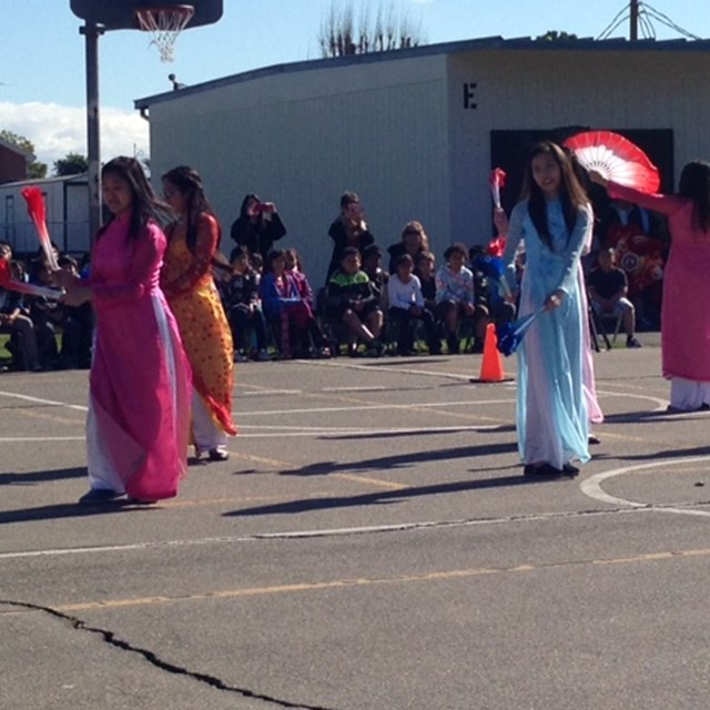 Students enjoy cultural performances to celebrate the Lunar New Year!